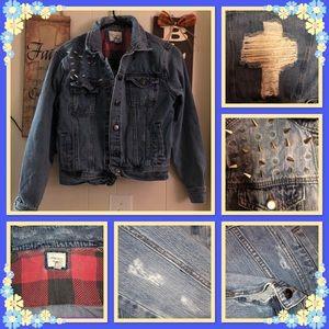 Forever 21 Misses Studded Jean Jacket